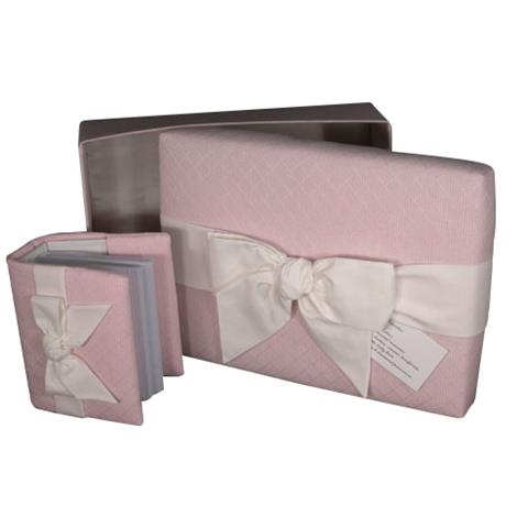 Simply Elegant Pink & Off-White-Tiny Gingham With Raised Diagonal Lines
