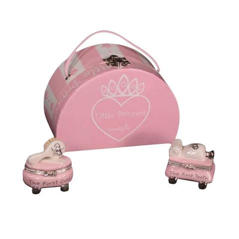 Little Princess Enamel First Tooth and First Curl Treasure Box