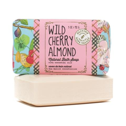 Olivina Wild Cherry Almond Bar Soap 5oz