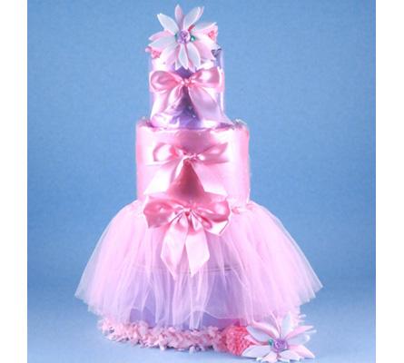 TUTU TASTY NEWBORN DIAPER CAKE BABY GIRL GIFT
