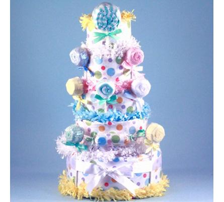 LOLLIPOP DIAPER CAKE BABY GIRL GIFT