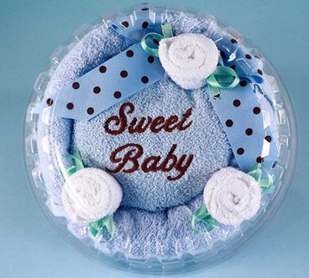 SWEET BABY BOY HOODED TOWEL CAKE