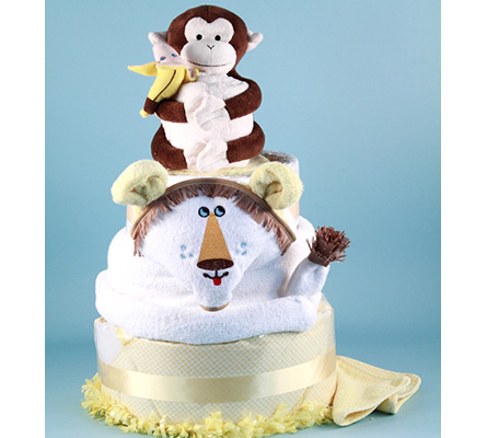 DELUXE LION KING DIAPER CAKE BABY GIFT