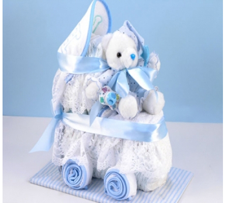 DIAPER CARRIAGE BOY BABY GIFT