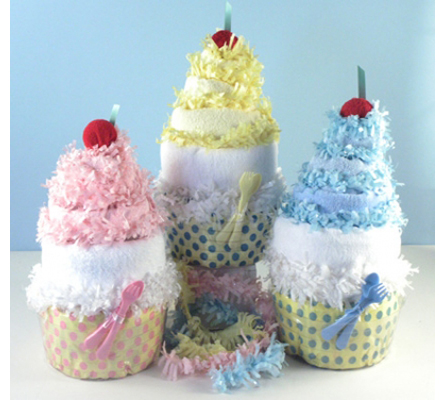 DIAPER CUPCAKE BABY GIFTS
