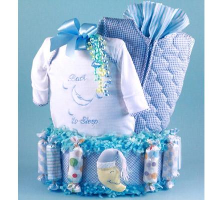 Back To Sleep Diaper Cake Baby Boy Gift