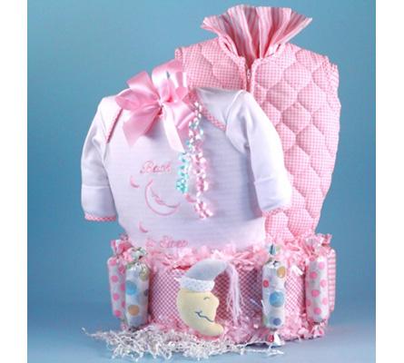Bedtime For Baby Diaper Cake Girl Baby Gift