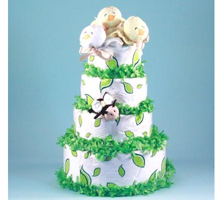 Birds & Bees Diaper Cake Baby Gift