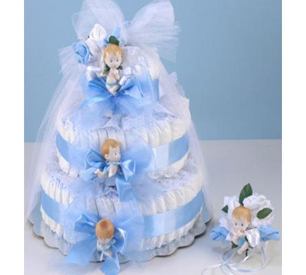 Diaper Cake Delight Baby Boy Gift