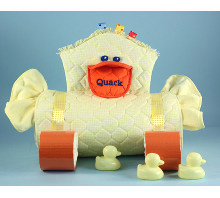 Duckie Changing Pad Diaper Cake Unisex Baby Gift
