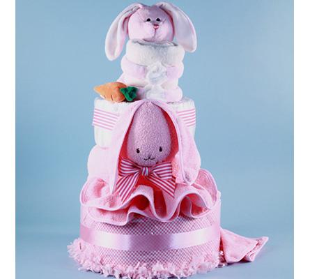 Ricki Rabbit Deluxe Diaper Cake Baby Gift