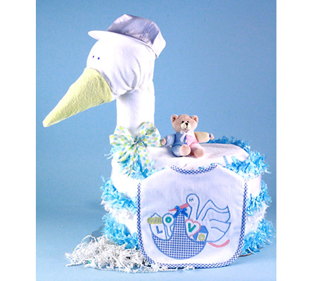 Stork Delivers Baby Girl Diaper Cake