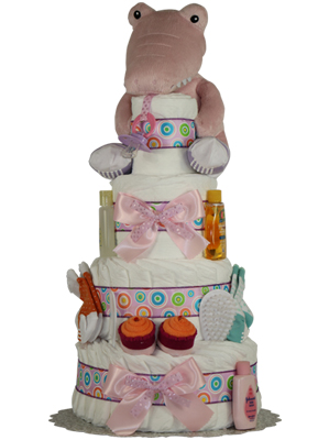 Croc in Socks Girls Diaper Cake