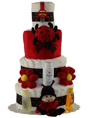 Lady Bug 3 or 4 Tier Diaper Cake
