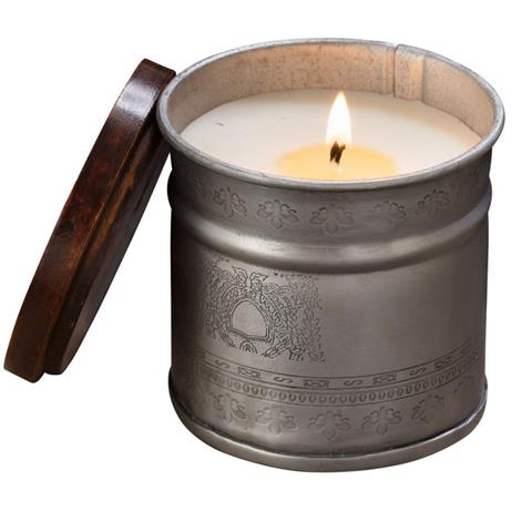 Himalayan Trading Post Iron Pot Candle Bougainvillea/Tobacco Bark 12oz