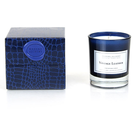 D.L. & Company Candle Vintage Leather Scented 7.4 Oz