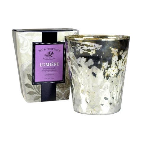 Pre de Provence Mercury Glass Lumiere Fragrant Candle Lavender 8oz
