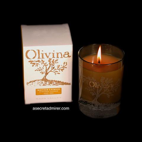 Olivina Napa Valley - Scented Soy Candle - Meyer Lemon Scent 8.5oz