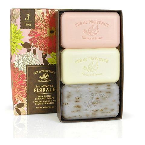 Pre de Provence Gift Box Assorted Floral Soap 5oz