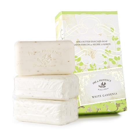Pre de Provence White Gardenia Soap Gift Box  3 X 5oz