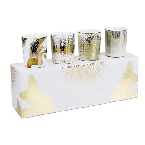 D.L. & Co. Set of 4 White Soleil Votives
