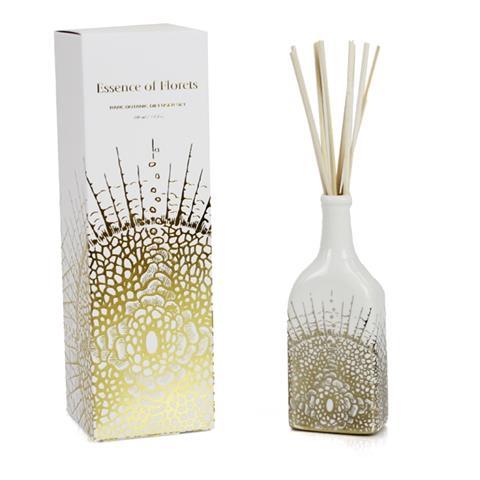 D.L. & Co White Soleil Diffuser, Essence of Florets 3.4oz