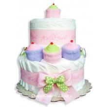 It's A Girl! Mini Diaper Cake