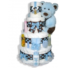 Brown & Blue 4 or 5 Tier Diaper Cake