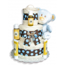 EcoFriendly Bear Diaper Cake