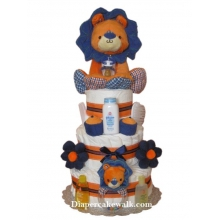 Baby Boy Safari - King Lion Diaper Cake