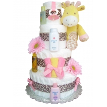 Sweet Safari Baby Diaper Cake