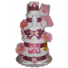 Sweet Safari Leopard Diaper Cake