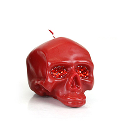 D.L. & Company Med Red Skull Crystal Eyes Candle 19.2oz