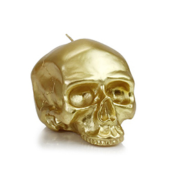 D.L. & Company Medium - Gold Skull Metallic Candle