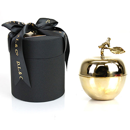 D.L. & Company La Pomme D'Or Candle Medium Gold Apple