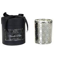 D.L. & Co. Vanille Peche Silver Candle 18oz