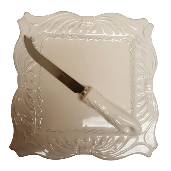 Cheese Knife with Tray