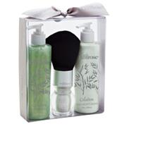 Lady Primrose Celadon Essentials Gift Set (Filled Body Brush, 8oz Skin Moisturizer & 8oz Bathing Gel)