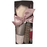 Lady Primrose Tryst Travel Set (2oz Travel Sized Bathing Gel, 3oz Body Creme Tube, 3oz Cream Soap & Lip Full-Fill)