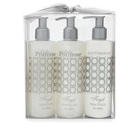 Lady Primrose Tryst Triple Pump Gift Set (8oz Skin Moisturizer, Bathing Gel & Handwash Pumps