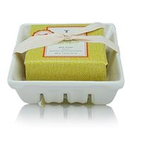 Thymes Mandarin Coriander Bar Soap & Dish Set 195G 7Oz