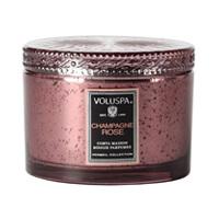 Voluspa Vermeil 2 Wick Candle Corta Maison Champagne Rose 11oz