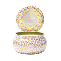 Voluspa Maison Blanc Pink Citron 2 Wick Candle Tin 11oz