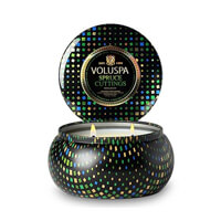 Voluspa Maison Holiday 2 Wick Candle Tin Spruce Cuttings 11oz