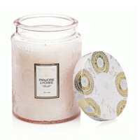 Voluspa Limited Edition Panjore Lychee Large Embossed Glass Candle 16oz