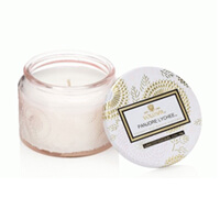 Voluspa Limited Edition Panjore Lychee Colored Jar Glass Candle 3.2oz