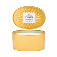 Voluspa Vermeil Incognito 2 Wick Candle In Decorative Oval Tin 12.7oz