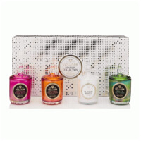Voluspa Maison Holiday 4 Votive Candle Gift Set with Glass Lids 4 X 3oz