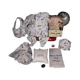 Elegant 4-Piece Kissy Kissy Train Pattern With Sleep Sheep On The Go