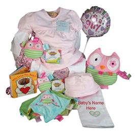 Emile et Rose & Oodles Owl Elegant Baby Girl Gift
